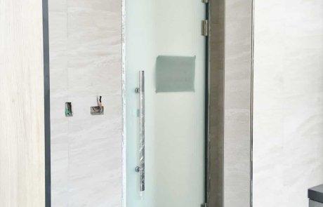 Glass door hinge-glass to metal frame