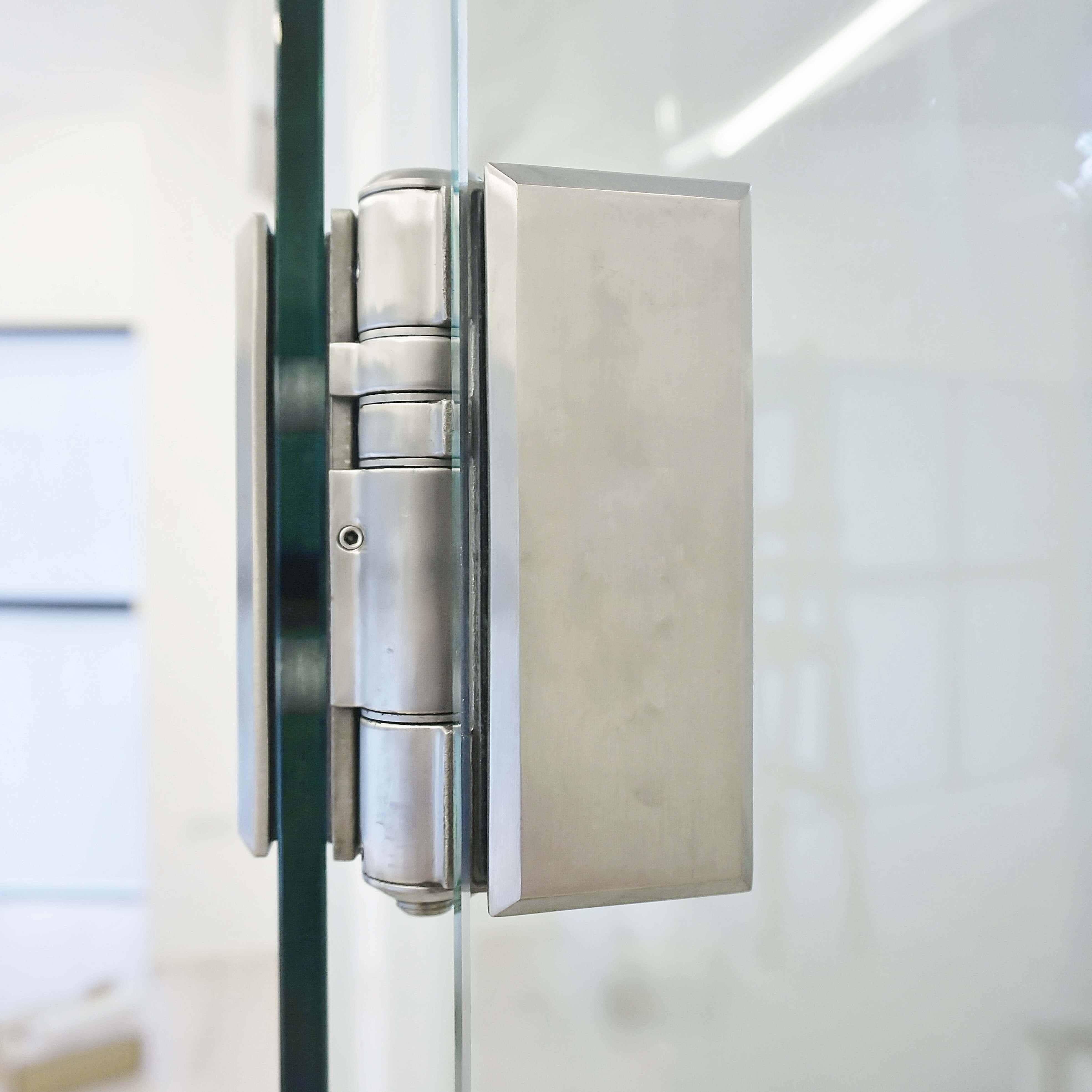 Self closing glass door hinge - floor spring no more! & New Door-closing solution for glass door! - Waterson Door-Closer Hinge