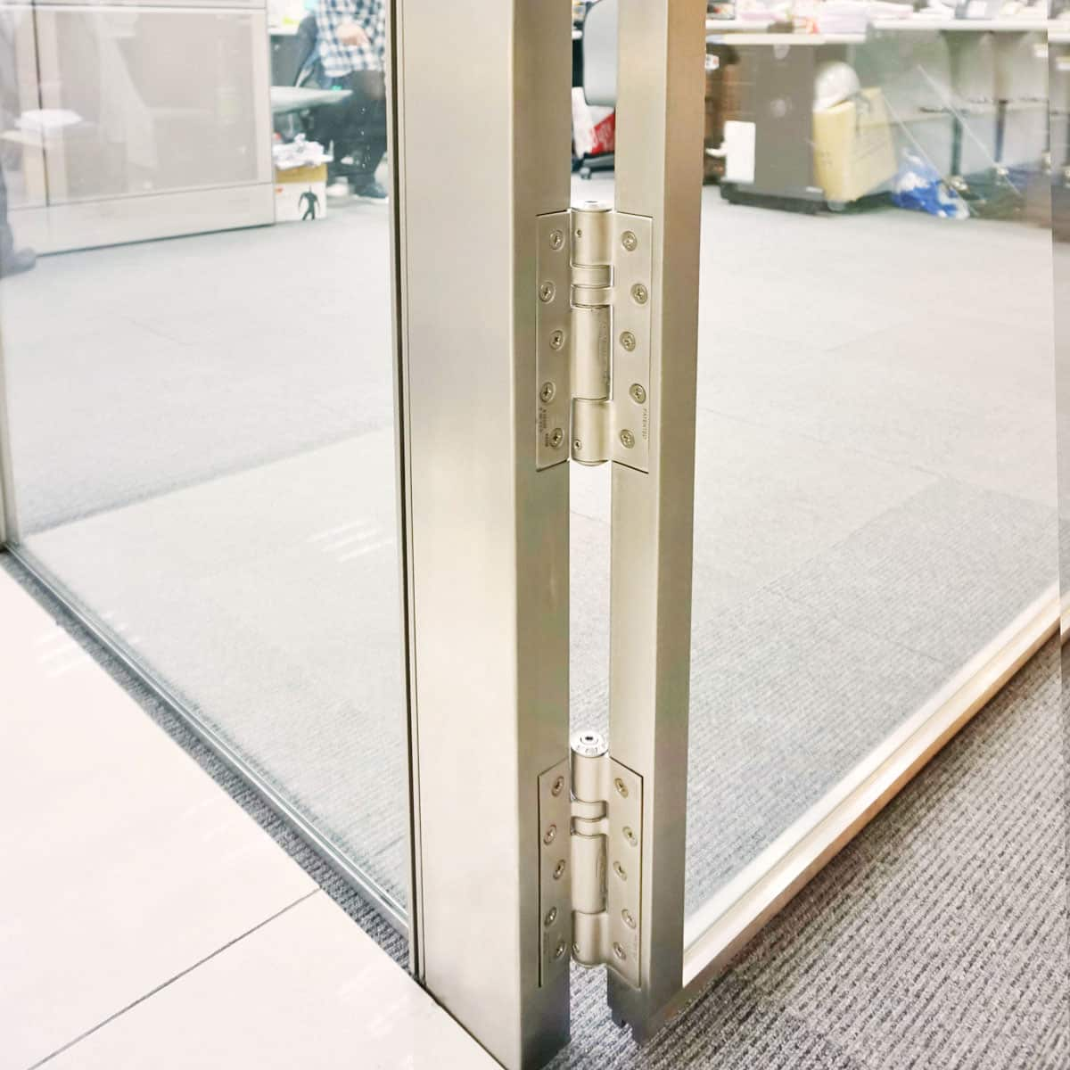Office metal frame door-fire door closers