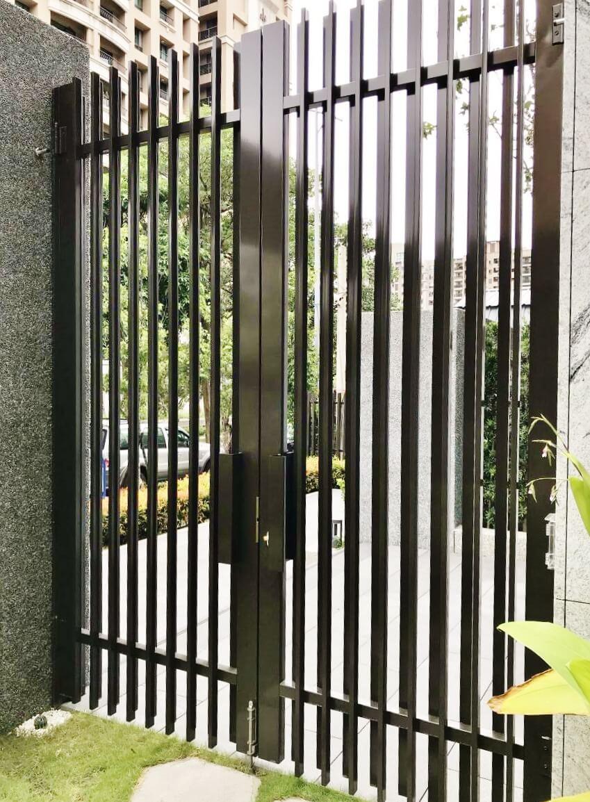 戶外格柵門鉸鍊-豪宅社區格柵門應用