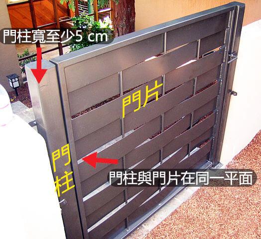 門扇門柱同一平面