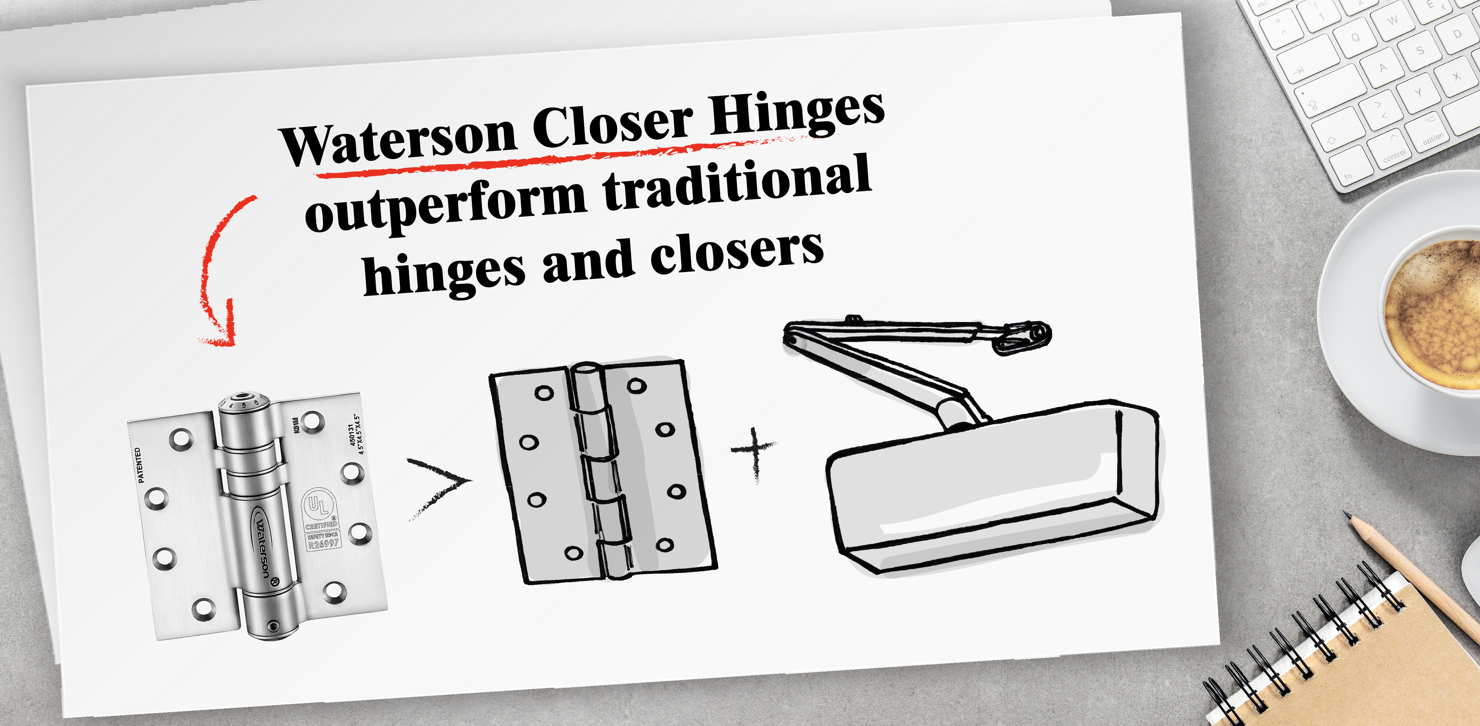 Waterson Closer Hinge